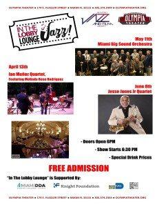 In the Lobby Lounge...JAZZ! - Jesse Jone Jr. Quartet @ Olympia Theater | Miami | Florida | United States