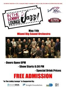 In the Lobby Lounge...JAZZ! - Miami Big Sound Orchestra @ Olympia Theater | Miami | Florida | United States