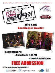 In the Lobby Lounge...JAZZ! - Ben Stocker Quartet @ Olympia Theater   Miami   Florida   United States