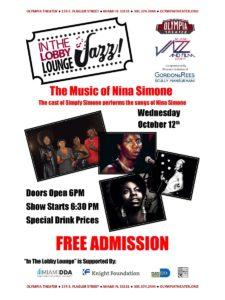 In the Lobby Lounge...JAZZ! - The Music of Nina Simone @ Olympia Theater | Miami | Florida | United States