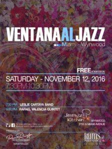 Ventana Al Jazz presents LIVE LATIN JAZZ @ Jimmy's Kitchen Wynwood | Miami | Florida | United States