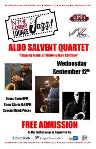 "Aldo Salvent Quartet ""Chasing Trane, a tribute to John Coltrane"" @ Olympia Theater 