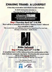 CHASING TRANE: A LOVEFEST  A Screening of the Movie Followed by reception & Talk @ The Hampton House | Miami | Florida | United States