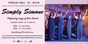 Simply Simone - Performing songs of Nina Simone @ Historic Hampton House